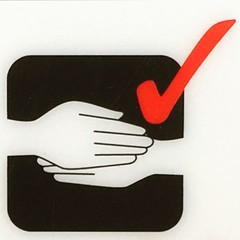 Handshake miss? It's all good. (vapour trail) Tags: hand graphic safety diagram airline shake instruction easyjet