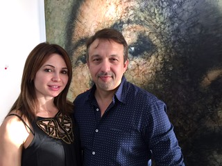 Sandra and Israel Moleiro at their Latin Art Core gallery on eighth street