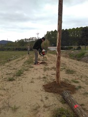 """Preparant el pati per estocar fusta i biomassa <a style=""""margin-left:10px; font-size:0.8em;"""" href=""""http://www.flickr.com/photos/134196373@N08/27249334472/"""" target=""""_blank"""">@flickr</a>"""