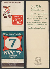 Matchbook: Elby's / Channel 7 WTRF-TV (Ohio County Public Library) Tags: wheelingwv wheeling elbys bigboy matchbooks matches wtrf channel7