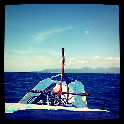 On the boat for snorkeling trip from Senggigi beach to Gili Nanggu #Lombok #Bali