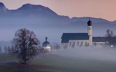 Wilparting in the mist (svenpetersen1965) Tags: sunset church fog bavaria schwarzenberg wendelstein breitenstein irschenberg seebergkopf wilparting stmarinusundanian