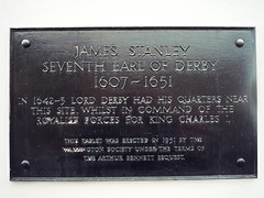 Photo of James Stanley black plaque