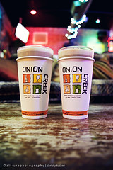 Chai Lattes Were Made For Winter (Juniper Bloom Photography) Tags: blue red orange green yellow creek colorful bokeh chi onion latte