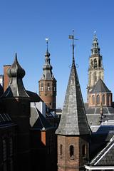 Martinikerktoren (Marketing Groningen) Tags: toren nederland zomer groningen grotemarkt straat martinitoren winkels vismarkt straten binnenstad winkelen