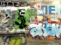 Unknown Aken Nevr (Grimey  Trains) Tags: street canada art vancouver cat graffiti bc felix character piece burner bomb aken
