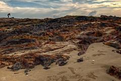 She love nature, I too... (Tuah Roslan) Tags: sunset beach water rock clouds sunrise landscape photography kuala pantai terengganu seaview tuah roslan pandak ainst