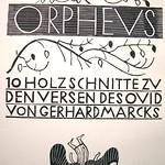 "<b>Title Page of Orpheus Portfolio</b><br/> Gerhard Marcks (1889-1981) ""Title Page of Orpheus Portfolio"" Woodcut, n.d. LFAC #2004:07:02<a href=""http://farm8.static.flickr.com/7163/6438622003_2f18ca1e48_o.jpg"" title=""High res"">∝</a>"