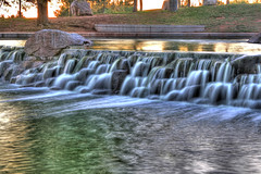 Freestone-Falls (Clint G.) Tags: park water waterfall cool dusk refreshing hdr