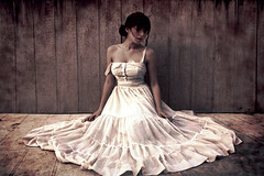 Tis A Lonely Day (melinadesantiago) Tags: white vintage dark alone dress grunge eerie lonely utterly lonelyday