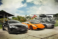 My other car is a helicopter! (anType) Tags: uk greatbritain italy orange black sports car grey italian chopper asia unitedkingdom helicopter exotic malaysia british kualalumpur lamborghini luxury coupe supercar bluejackets v8 astonmartin v10 gallardo sportscar vantage dbs v12 lambo stormblack arancioborealis westlandwasphas1 tungstensilver gstbumper