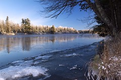 MAP7408 Wisconsin River—Ice Flow (maryanne.pfitz) Tags: blue trees winter sky ice water river landscape photo hoarfrost wisconsinriver coth natureandnothingelse coth5