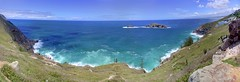 Panorama of the Atlantic Ocean as seen from Arraial do Cabo (Frans Harren) Tags: ocean blue sea brazil panorama water brasil riodejaneiro canon geotagged bra hills atlanticocean hdr canonpowershotg1 arraialdocabo powershotg1 ptgui photomatix 3exp exposurefusion geo:lat=2298032288 geo:lon=4203074098