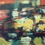 """<b>The Parting of the Way (Opus 206)</b><br/> Fridtjof Schroder (1917-1990) """"The Parting of the Way (Opus 206)"""" Oil, 1964 LFAC #207<a href=""""http://farm8.static.flickr.com/7163/6466325801_bc4ba62ab7_o.jpg"""" title=""""High res"""">∝</a>"""
