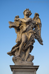 """Ponte Sant'Angelo, Angelo con il cartiglio • <a style=""""font-size:0.8em;"""" href=""""http://www.flickr.com/photos/89679026@N00/6478131499/"""" target=""""_blank"""">View on Flickr</a>"""