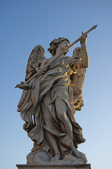 """Ponte Sant'Angelo, Angelo con la lancia • <a style=""""font-size:0.8em;"""" href=""""http://www.flickr.com/photos/89679026@N00/6478132973/"""" target=""""_blank"""">View on Flickr</a>"""