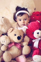 Christmas Presents (AnnuskA  - AnnA Theodora) Tags: christmas portrait cute colors kid eyes child teddy bears adorable lovely