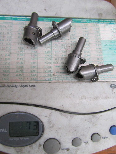 canti posts before machining 73 grams