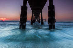 Pacifica Pier (tobyharriman) Tags: ocean sanfrancisco california lighting longexposure nightphotography water night landscape photography pier dangerous pov path walkway bayarea posts pacifica exposures 2011 pacificapier 1740mmf4l watermovement canon7d tobyharriman takingpicturesinocean