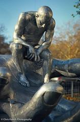 Statue, Park Lane, London (www.chriskench.photography) Tags: camera man london film statue nikon hydepark f80 n80 parklane ektar handofgod londonist c41 tetenal lorenzoquinn kenchie