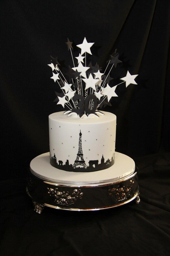 Carlas 30th Birthday Designer Cakes By Effie Tags White Black Paris 30
