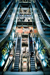 The time machine (Alexandre Moreau | Photography) Tags: city uk light building london tower colors architecture modern reflections photography inside escalators mechanic hdr reflects inox llyods thetimemachine tokina1116mmf28 nikond7000 alexandremoreau lpindustrial
