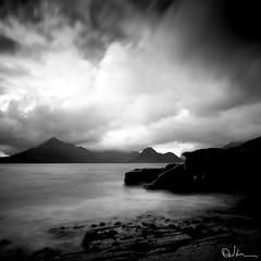 Storm on the Horizon - Elgol, Skye (David Hannah) Tags: sea storm mountains skye clouds scotland highlands movement long exposure peaks cullins elgol x1000 coastuk summertimeuk welcomeuk
