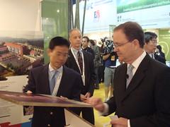 CEO of WallMart holding Xanita Board in Shanghai