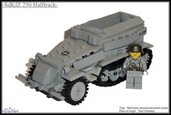 Lego ww2 -SdKfZ 250 Halftrack- (=DoNe=) Tags: world 2 car by viktor model war lego suspension nazi homemade german custom done fritz 250 ank halftrack minifigure sdkfz brickarms legoww2 legohalftrack amrored legoww2sdkfz250germanhalftrack