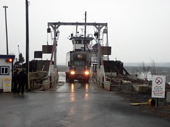 UPS Truck Leaving The Raymond S Pecor Jr. Ferry Boat. (dccradio) Tags: lake ny newyork building water sign ferry clouds port truck lights boat dock vermont waves cloudy shed wave overcast headlights semi landing ups rig shack vt plattsburgh grandisle lakechamplain ferryboat tractortrailer bigrig unitedparcelservice carferry ferrylanding nocellphones bodyofwater lakechamplainferry raymondspecorjrferry