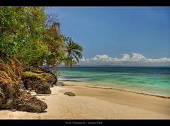 61.2011 - Samana Island.Frame (Pawel Tomaszewicz) Tags: blue sea sky holiday tree beach clouds island sand rocks republic palm destination bacardi dri hdr domincan hdri samana