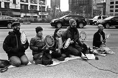 Occupy 2.0 (Pine Ear) Tags: street leica nyc bw film wall 35mm demo kodak manhattan f14 candid voigtlander trix protest 400tx 400 gothamist 20 m6 nokton occupy duartesquare