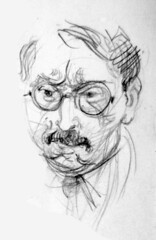 Bespectacled Man (artsentinel) Tags: portrait portraiture figuredrawing sketchbookdrawings citypeople portraitpainting portraitdrawing artisticanatomy subwaysketches urbansketchers urbansketcher newyorkcitycommuters subwaysketcher keithgunderson subwaysketchers