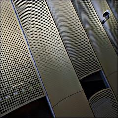 I spy (Maerten Prins) Tags: camera metal gold utrecht pattern garage parking cctv holes cope papendorp papendorpseweg