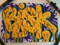 "stickers baveux... (""skeba"") Tags: jaune tag stickers stick autocollant stikers coulant"