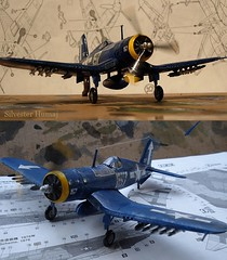 F4U Corsair 1-72 scale (sixty8panther) Tags: world usmc plane airplane experimental fighter wasp aircraft wwii 1940 version engine machine double 127 worldwarii prototype cannon ww2 corsair guns marines brewster 20mm 1942 mm rockets bombs 1945 powerful usnavy colt 1941 machinegun goodyear iwojima 1944 supercharger 1943 radial supercharged fg prattwhitney 2ndworldwar fighterplane f4u f3a vought designated vjday 50cal pacificwar corsairs 127mm f4ucorsair doublewasp voughtf4u f4u4corsair carriercapable r2800 xf4u1 gunsmachine coltbrowning goodyearbuilt r280018w eighteencylinder m2machineguns xr28004 brewsterbuilt mostpowerfulengineintheworld