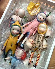 sprout series (LeeJaeYeon) Tags: original art doll handmade working creative bisque carrot daisy sprout porcelain leejaeyeon