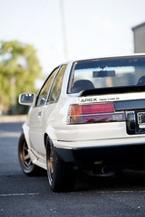 van's AE86 coupe (christopherlimphotography) Tags: cars bronze nikon automotive toyota rays fullframe nikkor coupe f28 corolla volk levin ae86 16v te37 4age hachiroku d700