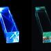 Fluorescent Art:  Prismatic Prison - Acrylic Rod - 405nm Laser