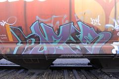 Hozer (A & P Bench) Tags: art train graffiti fan sticks paint rail railway graff streaks freight markal monikers meanstreaks benching