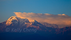 Nepal-101229-544 (Kelly Cheng) Tags: travel nepal sunset mountain color colour tourism nature horizontal landscape daylight colorful asia day outdoor vivid peak nobody nopeople summit colourful copyspace pokhara sarangkot subcontinent traveldestinations