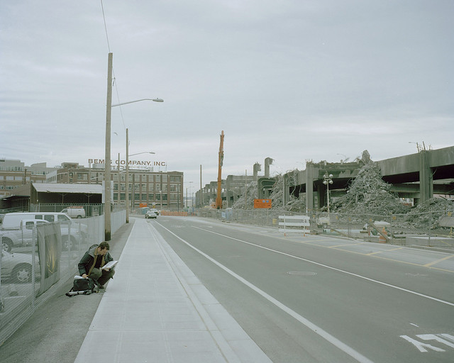 Sketching the Alaskan Viaduct demolition