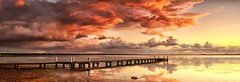 "Little Fluffy Clouds (Tim Poulton) Tags: seascape nature water clouds reflections landscape pier nikon jetty australia panoramic nsw littlefluffyclouds theorb d3x zf2 berkeleyvale makroplanart250 ""zeisscontest2011"""