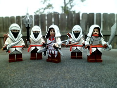 Ezio & Friends [Brickforge weekly contest winner] (Grant Me Your Bacon!) Tags: lego brotherhood assassin revelation recruit ezio revelations assassinscreed brickarms brickforge hiddenblade