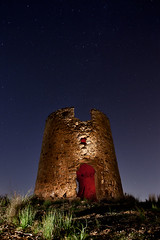 Castle of fear II (raul_lg) Tags: sky lightpainting castle canon torre fear murcia cielo nocturna cartagena castillo maglite filtros geles largaexposicion losurrutias maglite3d raullg ledsenser castillodelmiedo