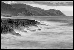 Yokohama Bay (Scott Sharick) Tags: longexposure bw landscape hawaii blackwhite rocks waves oahu yokohamabay