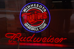 Minnesota Twins Baseball Club (afagen) Tags: minnesota sign neon baseball minneapolis twincities budweiser minnesotatwins