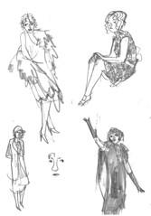Sketchbook-Fashion1920s-002 (addtadd) Tags: 1920s fashion pencil women drawing sketchbook warmup