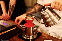 Coffee Science (Rick Nunn) Tags: red music london coffee notes ben rick tattoos scales timer nunn canonef50mmf14usm v60 hario