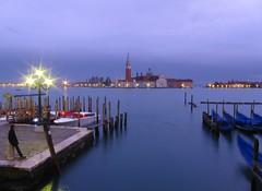 S. Giorgio maggiore on a rainy Winter evening